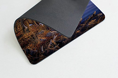 Smooffly Deer Gaming Mouse pad,Deers at The Ege of The River Non-Slip Thick Rubber Large Mousepad Photo #3