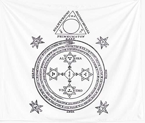 Magical Circle of King Solomon Big Wall Solomon Circle Goetia Tapiz De Pared Cubierta Toalla De Playa Manta De Picnic Picnic Yoga Mat Decoración del Hogar Mantel-70.9_ × _92.5_Inches_