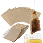 Disposable Tea Filter Bags Empty Cotton Drawstring Seal Filter Tea Bags for Loose Leaf Teal