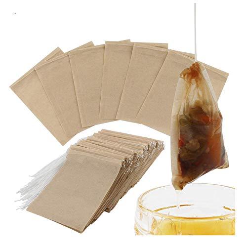 300PCS Sacchetti per il filtro per tè, sacchetti di tè di carta usa e getta con carta da tè sicura in forte penetrazione per tè e caffè in foglia sciolta