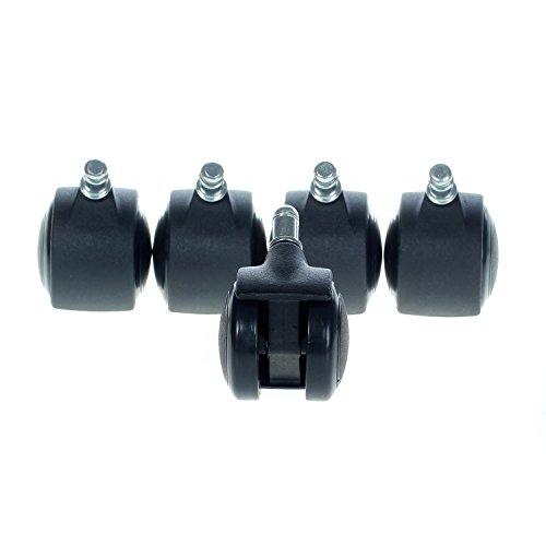 Desarmador Incluido AGPTEK Ruedas de Reemplazo para Silla de Oficina Resistentes Soportes Universales con un Sistema de Frenado /Único Set of 5 Ruedan Suave y Silenciosamente