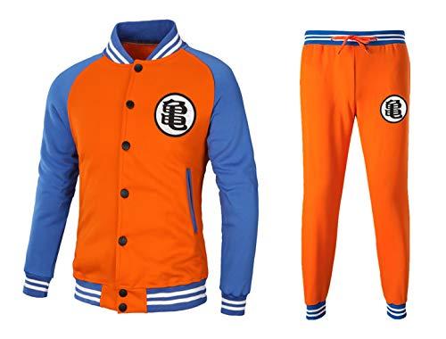 CoolChange Baseball Style Trainingsanzug im Son Goku Design   Jacke und Hose   Größe: M