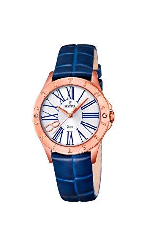 Damas-Reloj analógico de Cuarzo de Cuero Festina F16930/1