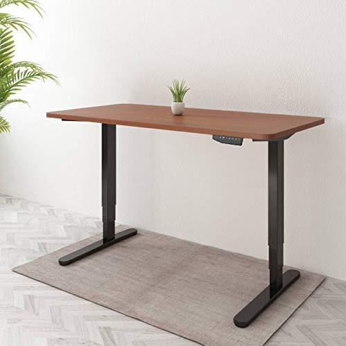 SANODESK E5 Höhenverstellbarer Schreibtisch Elektrisch höhenverstellbares Tischgestell, 3-Fach-Teleskop mit der Tischplatte. Mit Memory-Steuerung und Softstart/-Stop (60 x 120 cm, Mahagoni)