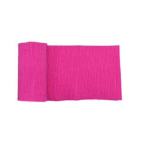 Berrd 250 * 10cm Origami Krepppapier DIY Bastelkrepppapier Hochzeitsbankett Dekoration Blumenverpackung Geschenkverpackungsmaterial - F05 Rosenrot