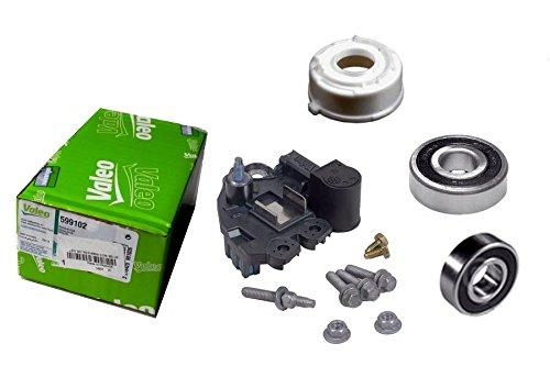 Alternator Rebuilt Kit w/ Voltage Regulator, Brushes & Bearings for 180 Amp Valeo Alternators 2004-2010 BMW 323 325 330 525 530 545 645 745 550 750 Models