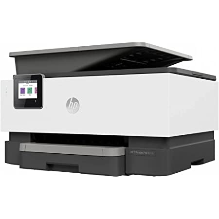 HP OfficeJet Pro 9010, Imprimante à Jet d'encre Multifonction, Impression, Numérisation, Photocopie, Télécopie, Wi-Fi Direct, Tâches Intelligentes, Gris