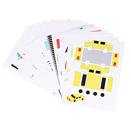 ETBOTU - Bolígrafo 3D para niños, con impresión 3D, para manualidades, plantillas, cartón, 15 unidades, papel especial al azar, 3D, diseño de graffiti, para regalo de cumpleaños, Navidad