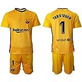 NMLB Těr Stěgěn Kids Soccer Jersey Set - Portero Jersey Jersey Home Jersey Jersey Fans Sudadera / 1# Yellow-XXS