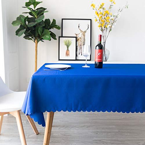 DJUX Hotel Restaurante Banquete Mantel de Boda Mesa de Comedor paño de reunión Rectangular Blanco Mantel Impermeable y a Prueba de Aceite 200x200cm