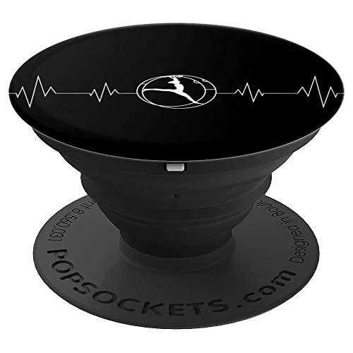 Rhönrad Turnen | Herzschlag für alle Turner/Akrobaten - PopSockets Ausziehbarer Sockel und Griff für Smartphones und Tablets