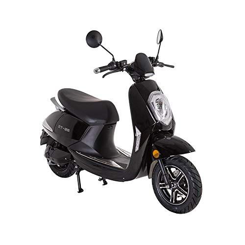 VELECO Scooter eléctrico Adulto E-Scooter 1200W Retro Vespa Moto Ciclomotor 45km/h Negro