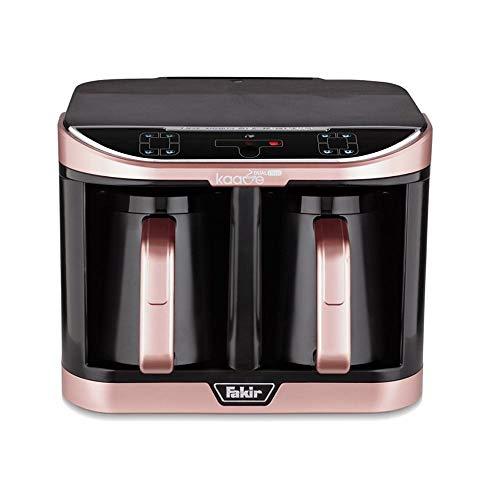 Fakir Kaave Dual-Pro 9216003 / Mokkamaschine Kaffeekocher Kaffeebereiter elektrisch, Kunststoff, One Touch Steuerung, 2,3l Wassertank , rosé - 735 Watt