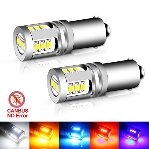 GSDGBDFE T4W BA9S Blub BAX9S H21W BAY9S LED 12V 24V H6W H5W LED para automóvil Trasero Niebla Luz roja Rojo Auto Aparcamiento Lámpara inversa 6000K