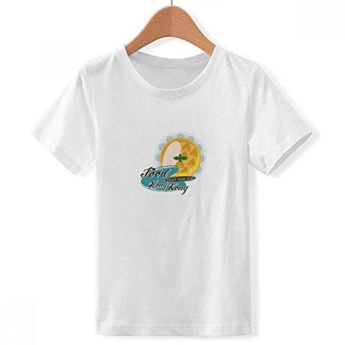 DIYthinker Jungen Hong Kong Udon Nudeln China Crew Hals Weißes T-Shirt XXX-Groß Mehrfarbig