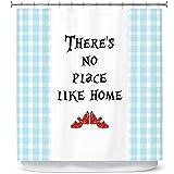 DiaNoche Designs Zara Martina - Cortinas de Ducha para baño, diseño con Texto en inglés Theres No Place Like Home L