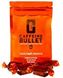 Caffeine Bullet Energy Chews - Chocolate Orange *40 – Faster Boost Than Gels, Tablets and Gum. 100mg Caffeine - Sport Science for Running, Cycling, Gaming & Pre Workout Endurance Kick.