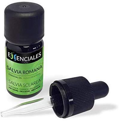 Essenciales – Olio Essenziale di Salvia Sclarea o Romana 100% Puro e Naturale, 10 ml   Olio Essenziale di Salvia Sclarea