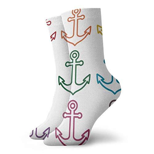 Calcetines de compresión para mujer y hombre, esquema de anclajes de vela, crucero, barco, buque, gráficos para circulación, médico, correr