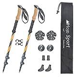 Hojo Sport Bâtons de Marche Télescopiques 3 brins pour Randonnée, ou Trail, conçus en Aluminium Premium Renforcé
