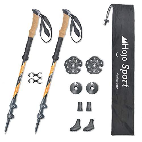 Hojo Sport Teleskop Wanderstöcke 3 Stränge für Wandern, Trekking, Trail, Ski oder Schläger, entworfen aus hochwertigem Aluminium