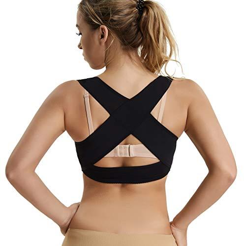Joyshaper Chest Brace Up for Women Posture Corrector Shapewear Tops Wireless Back Support Bra Vest