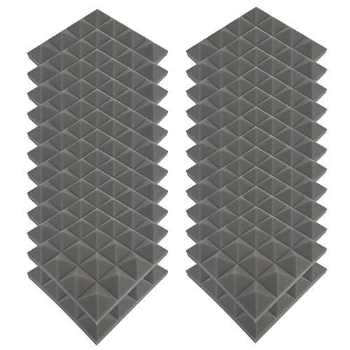 4444 Akkustik Platten Akustikschaumstoff Fliesen DäMmung Wanddeko Pyramiden Noppenschaumstoff Breitbandabsorber Decke Foam Feuerhemmend