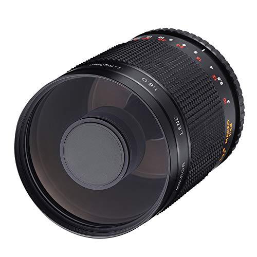 Samyang MF 500 mm F8.0 - Obiettivo a specchio Canon EOS EF - DSLR, CSC, messa a fuoco manuale, diametro del filtro 72 mm, per formato intero e APS-C