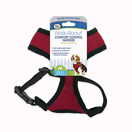 Four Paws Medium Red Comfort Control Dog Harness