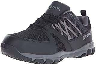 Reebok Work Men's Sublite RB4016 Safety Toe Athletic Work Shoe Construction, Black, 6.5 M US