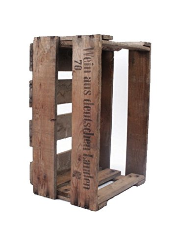 Originale alte Pfälzer Weinkiste aus echtem Holz mit Aufdruck