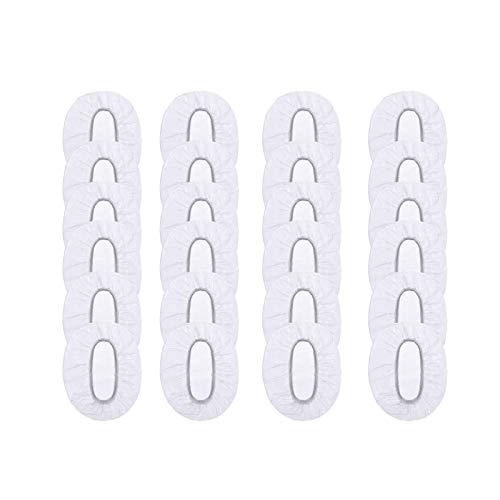JZZJ 100 Packung Transparente Einweg Ohrenschützer Wasserdichte Ohrbedeckungen für Haarfärbemittel, Dusche, Baden