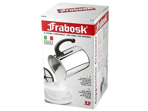 Frabosk Creamer Cappuccino, Acciaio Inossidabile, Grigio,