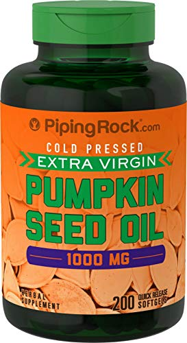 200 x 1000mg Pumpkin Seed Oil Softgel Capsules - Quick Release - 1st Class...