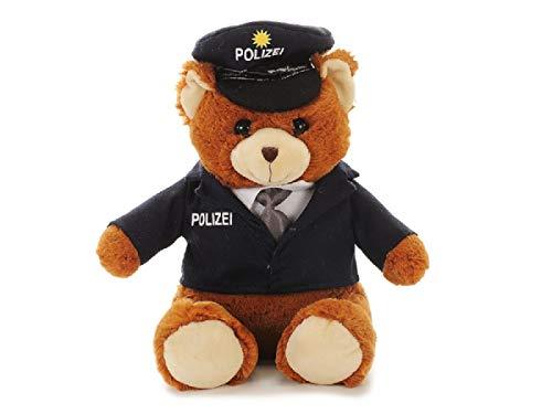 Bavaria Home Style Collection Plüsch Bär - Plüschtier - Stofftier - Kuscheltier - ist Dieser süße Teddy - EIN süßer und absolut schmuseweicher Kuschelfreund - Polizei