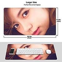 池田 エライザ マウスパッド 光学マウス対応 パソコン 周辺機器 超大型 防水 洗える 滑り止め 高級感 耐久性が良い 40*75cm