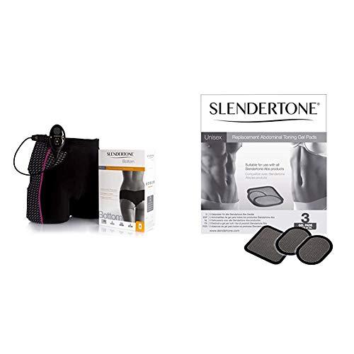 Slendertone Bottom Po-Trainer & Ersatzelektroden Gel-Pads 3er Set für alle Bauchmuskeltrainer