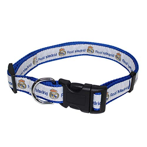 MLS Real Madrid DOG COLLAR Sports Fan Tough PET COLLAR in Team color, SIZE: Large