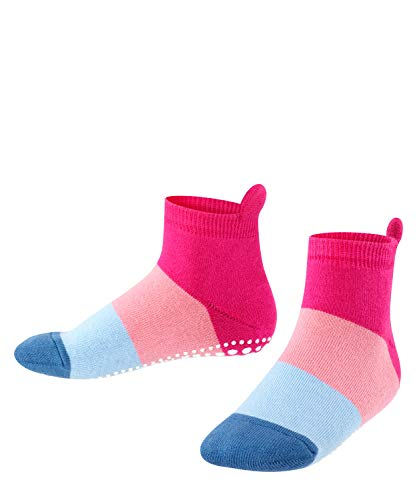 FALKE Unisex Kinder Socken, Colour Block Catspads K CP-12022, Rosa (Gloss 8550), 27-30