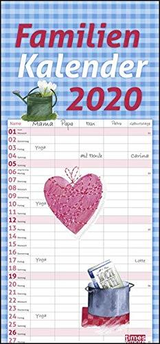 Times More Schaffner Familienplaner Kalender 2020