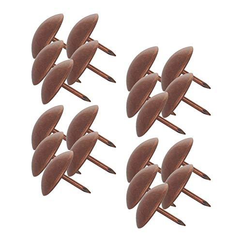 MroMax Lot de 50 punaises rondes en métal vieilli pour décoration de meubles, chaises, tableau de liège, canapé, têtes de lit - Rouge cuivré - 1,9 cm de diamètre