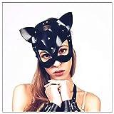 Collar de Cuero para Mujer Catwoman Juego de rol Fiesta de Disfraces Regalo Sorpresa Accesorios de Escenario, Mejor Regalo para Novia