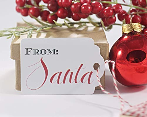 From Santa Gift Tags - Children's Christmas Tags - Holiday Labels (Set of 10)