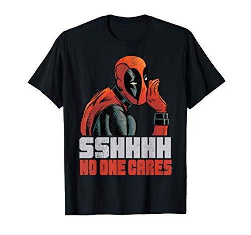 Marvel Deadpool SSHHHH No One Cares Whisper T-Shirt
