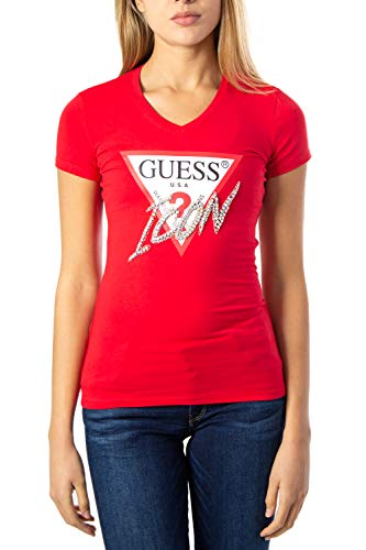 Guess T-Shirt Damen X-Small Rot