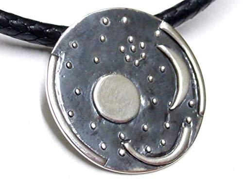 Anhänger Schmuck, Kettenanhänger Silber, Himmelsscheibe von Nebra, aus 925 Sterlingsilber, inkl. Halsband, Geschenk, Freundschaft