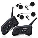Excelvan 2X V6 Pro Bluetooth Moto Interphone Moto Intercom Casque Bluetooth Moto Interphone pour 6...