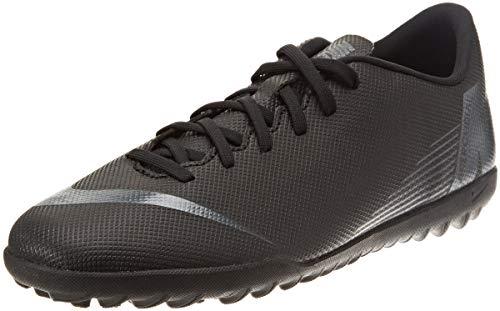 Nike Vapor 12 Club TF, Zapatillas de Deporte Unisex Adulto, Negro (Black/Black 001), 40.5 EU
