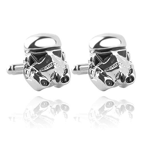 Manschettenknöpfe Star Wars Galactic Empire Imperial Stormtrooper Emaille Maske Kostüm Requisiten