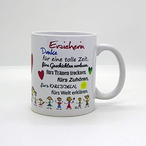 Kaffeebecher ~ Tasse - Erzieherin, Danke für eine tolle Zeit ~ Kindergarten ~Weihnachten Geschenk